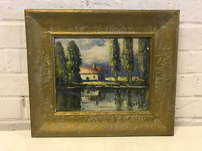 Michael Belfry Signed Oil on Board Impressionist Style Landscape Painting