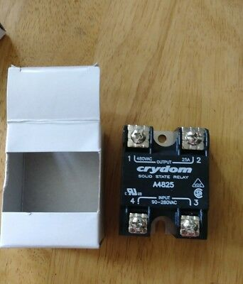 Crydom Solid State Relay A4825 Input:9-280VAC Output:280/480VAC 25A New Surplus