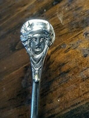 Very Rare UNIQUE 1720s Sterling Tea Tongs Sugar Nips different Girl Faced Grips
