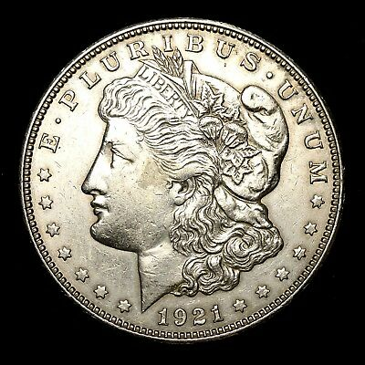 1921 D ~**ABOUT UNCIRCULATED AU**~ Silver Morgan Dollar Rare US Old Coin! #X95