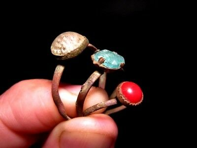 RARE LOT OF 3 pcs. ANTIQUE WEDDING RINGS, METAL DETECTOR FINDS!!!