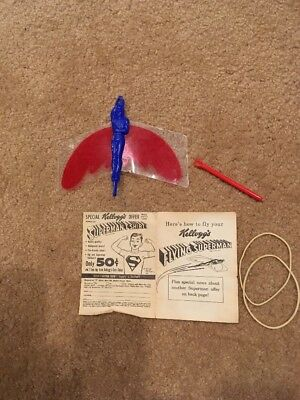 Kellogg's 1950's Rare Flying Superman Toy Cereal Premium