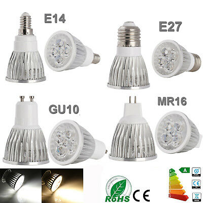 GU10 MR16 E27 E14 9W 12W 15W LED Spot Light Bulbs Ultra Bright Cool/Warm White