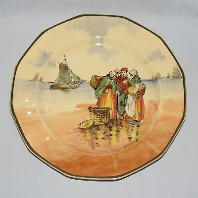 Royal Doulton seriesware Fisherfolk A Brittany octagonal plate D4405 #1