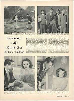 1940 MY FAVORITE WIFE MOVIE  PRINT ARTICLE  Irene Dunne Cary Grant