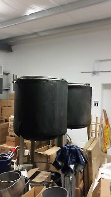 150 gal insulated stainless steel & jacketed tank / kettle with lid