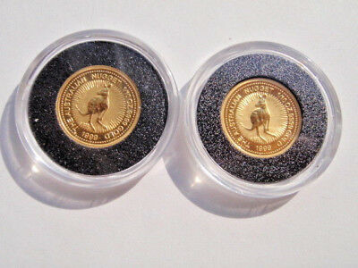 TWO 1999 Australian $15 1/10 ounce Gold Nugget Coins