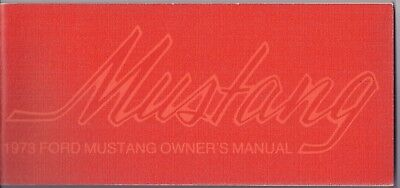 1973 Ford Mustang Owners Manual