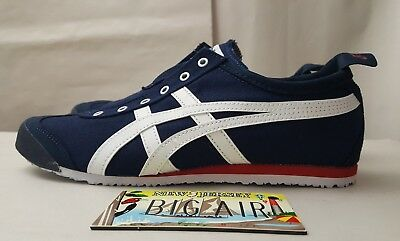 low priced e1422 b8dc3 ONITSUKA TIGER MEXICO D3K0N Navy Blue Red White Slip On Shoes Sneakers Size  7