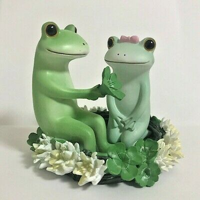 Copeau Frog Couple Corolla Flower Mini Figure Figurine Japan Toy F/S Tracking