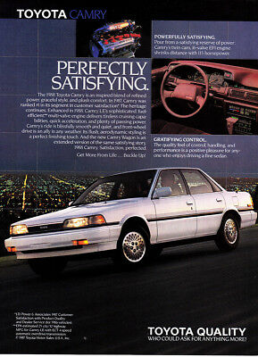 1987 Toyota Camry: Perfectly Satisfying Vintage Print Ad
