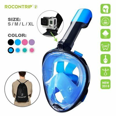 CA 2018 Full Face Anti Fog Easy Breath 180° Seaview Snorkeling Mask For GoPro