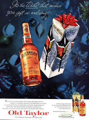 1959 Old Taylor: Taste That Makes Your Gift So Welcome Vintage Print Ad