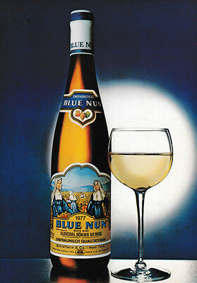 1979 Blue Nun: White Wine Vintage Print Ad