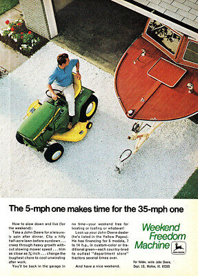 1970 John Deere: 5 MPH One Makes Time Vintage Print Ad