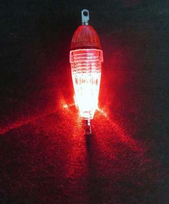 Newest MINI LED Deep Drop Underwater Fishing Squid Lure Light Red Flashing RR