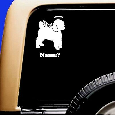 Dog Memorial Toy Poodle Angel Vinyl Decal Sticker Original Design by Sticky Pets