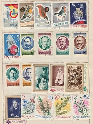 ROMANIA Music Birds Space Cutural Flowers Congress etc USED, as per scan #