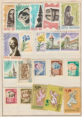 ROMANIA Statues Flowers Martial Arts Famous  etc USED, as per scan #