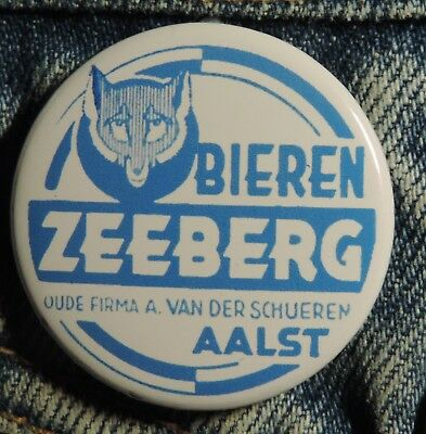 Pin Button Badge Ø38mm (bière) ZEEBERG BIEREN  ( ALOST ) #2
