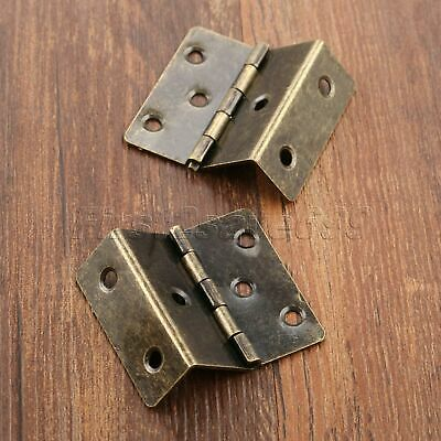 Small Vintage Metal Folding Hinges Wooden Cupboard Box Drawer Cabinet Door Hinge
