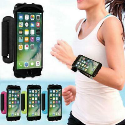 Sport Wrist Band Phone Holder 180 Degree Rotatable Open Face 4 To 5.5 Inch CB