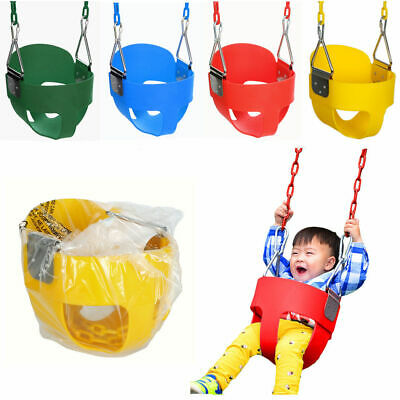 Full Bucket Swing Set For Toddler Baby Seat Playground Outdoors Play