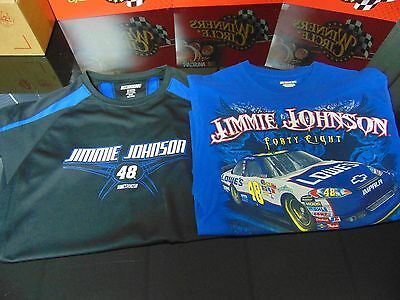 Jimmie Johnson Pre-Owned but Gently Worn Pair of 2 Cool T-Shirts (Size Medium)