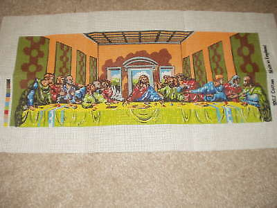 "Tapestry Canvas. The Last Supper.design Size 22 X 8 3/4""."