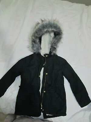 Country Road Girls Winter Coat Size 4-5 Black