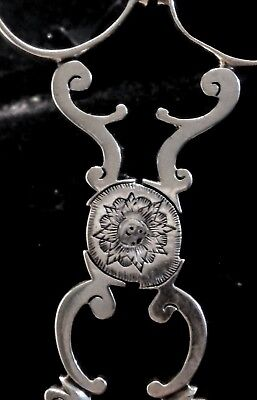 18th century Hand Engraved  and chased decoration sterling Tea tongs sugar nips