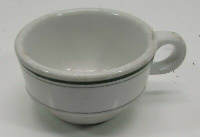 Vintage Sterling China Green Stripe Restaurant Ware Coffee Cup Mug Heavy short