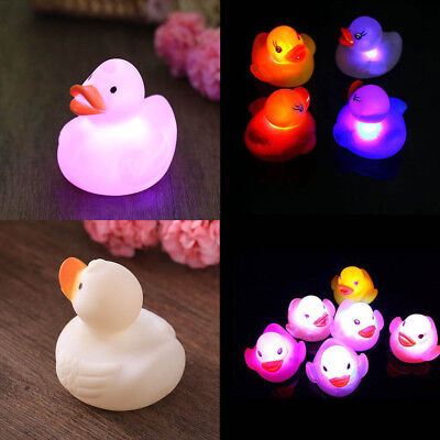 Bathtime Bathing Bath Floating Duck LED Light Lamp Toy Baby Accessories