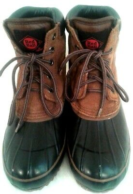 Mens Boots Red Ball LaCrosse Thinsulate SZ 7 Rubber Bottom Leather Upper Winter