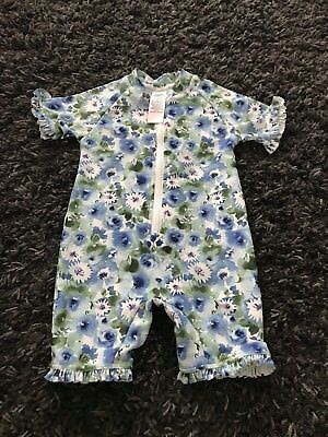 Next girls floral Swimming costume swimsuit all in one 12-18 months
