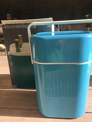 Vintage 1970's Decor #545 Green BYO Wine Cooler/Carrier fits 4 bottles Aust Made