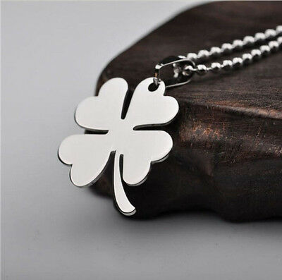 High Quality Stainless Steel Titanium Steel Four Leaf Clover Pendant Necklace