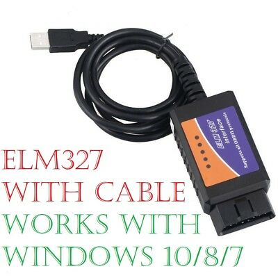 ELM327 OBD2 USB Interface Cable SCANNER RESET TOOL with FREE WINDOWS SOFTWARE