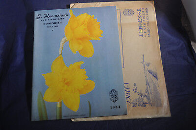 1954 *NEAR MINT* Dutch Flowers J. Heemskerk Catalog