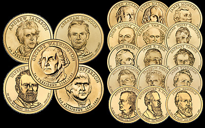 "Purchase One or Many 2007 Thru 2011 Presidential Dollar ""BU"" Coins @ $2.98 each"