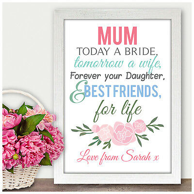 Mother of the Bride Personalised Thank you Gift Keepsake from Bride Mum Mummy