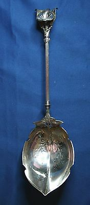 Beautiful Rare Sterling Silver Gorham Morning Glory Large Engraved Serving Spoon
