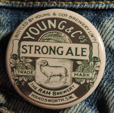 Pin Button Badge Ø38mm (bière) Young & Co Wandsworth Strong Ale