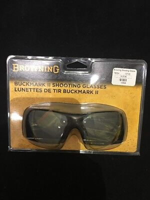 615daa84fd43 Browning Buckmark II Shooting Glasses Safety Yellow Tint w  Bag 12726  10658