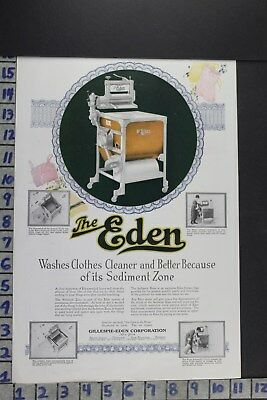 1920 Household Washing Machine Laundry Linens Clothes Eden Co Vintage Ad Ec001