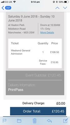2 Weekend Parklife Tickets