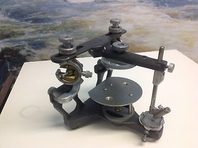 HANAU ARTICULATOR With OCCLOUSAL TABLE , Face bow and bite fork     stock # 4