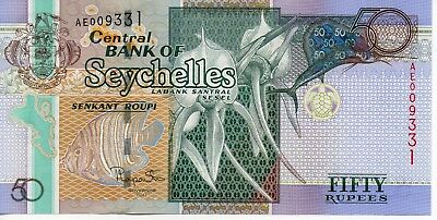 Seychelles 50 Rupees Banknote 2011