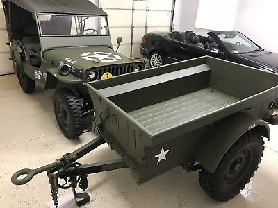 army willys jeep military m100 trailer 1951 dunbar kapple 1 picclick. Black Bedroom Furniture Sets. Home Design Ideas