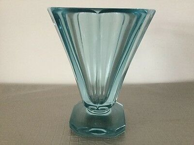 Daum Nancy France, grand vase bleu Art Nouveau Art Deco ,signé ,circa 1930